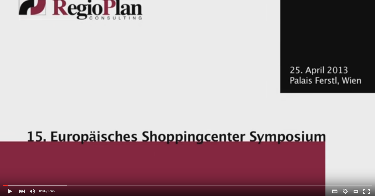 15. Europäisches Shopping Center Symposium
