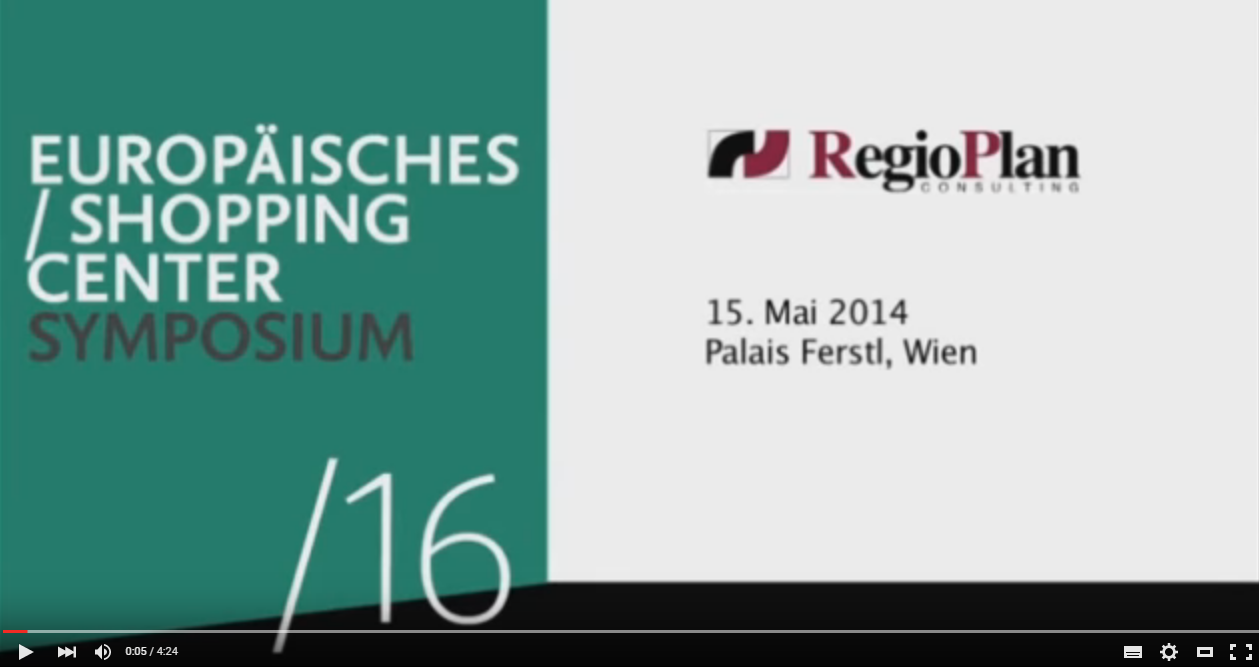 16. Europäisches Shopping Center Symposium